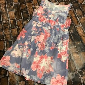 LOFT Watercolor Spring Summer Dress